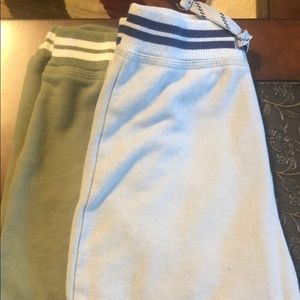 Kids shorts one gray and one olive